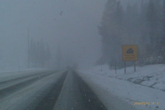 Donner Pass Snow
