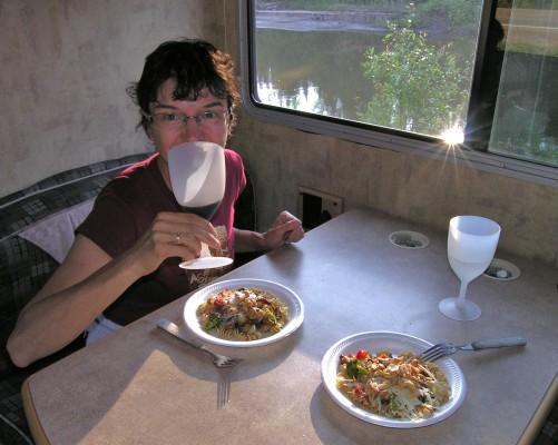 boondock dinner in British Columbia
