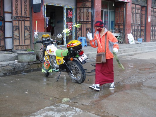 Modern monk in Litang